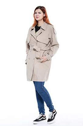 The Plus Project Women's Casual Double-Breasted Jacket
