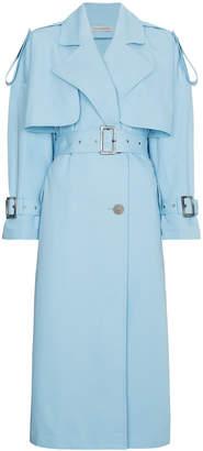 Blue Midi Trench Coat