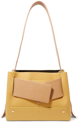 Yuzefi - Biggy Color-block Textured-leather Tote - Yellow