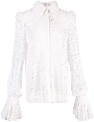 Carolina Herrera lace flute sleeve shirt