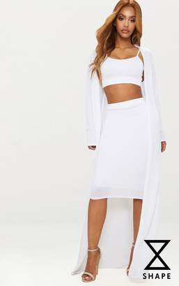 PrettyLittleThing Shape Champagne Textured Duster Coat