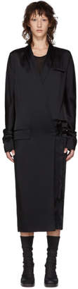 Haider Ackermann Black Wrap Dress
