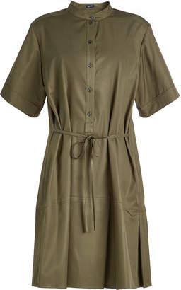 Jil Sander Navy Cotton Shirt Dress