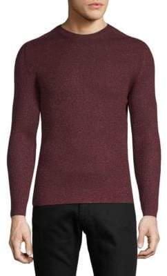 Saint Laurent Wool Cable Knit Crewneck Sweater