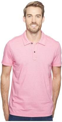Agave Denim Short Sleeve Polo Italian Pique in Berry Men's Clothing