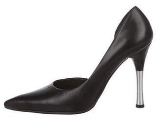 Helmut Lang Leather Pointed-Toe Pumps