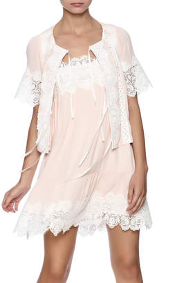 For Love & Lemons Hayley Tie Front Top