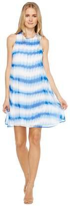 Calvin Klein Stripe Print Trapeze Dress Women's Dress