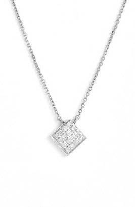 Women's Dana Rebecca Designs 'Lisa Michelle' Diamond Pave Square Pendant Necklace (Nordstrom Exclusive) $330 thestylecure.com