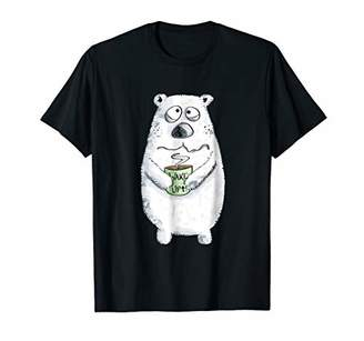 Wake Up Coffee Bear T-Shirt I Animal Lover Tee Gift
