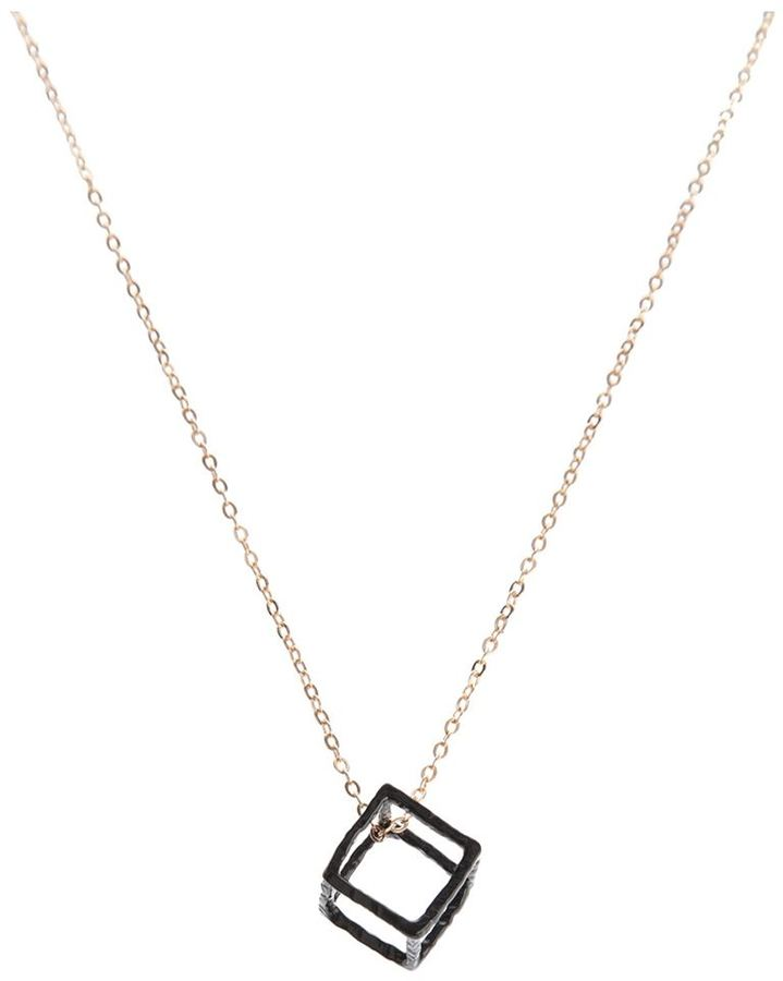 Gemma Lister cube necklace