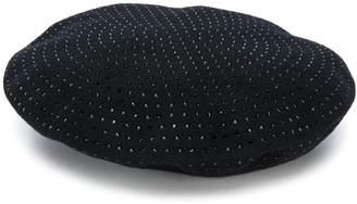 Saint Laurent studded beret