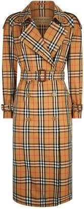 Burberry Eastheath Check Trench Coat