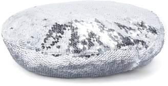 RACIL Irene sequin-embellished silk beret
