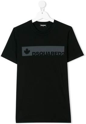 DSQUARED2 TEEN logo stripe T-shirt