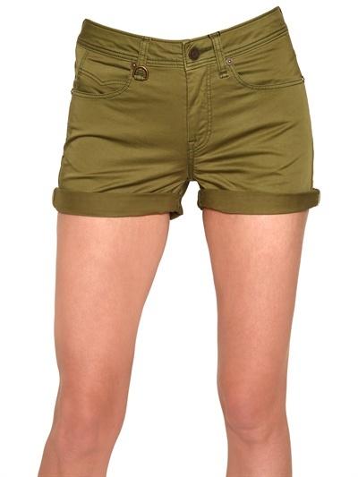 Burberry Cotton Satin Shorts