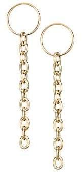 Chicco Zoe Zoe 14K Yellow Gold Circle& Chain Drop Earrings