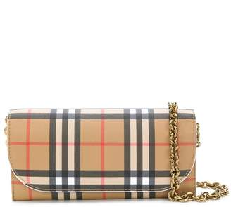 Burberry Heymarket checked pattern bag
