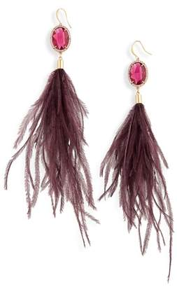 Stella + Ruby Feather Shoulder Duster Earrings