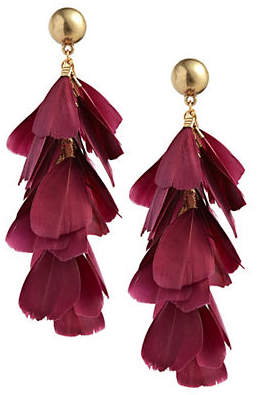 DESIGN LAB Rand Feather Drop Earrings
