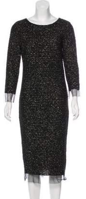 Luisa Beccaria Ruffle-Trimmed Midi Dress