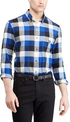 Chaps Men's Slim-Fit Plaid Flannel Button-Down Shirt