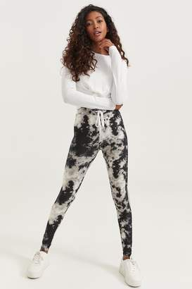 Ardene Tie-Dye Side Stripe Leggings with Drawstring