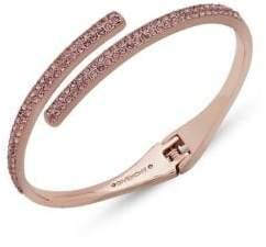 Givenchy Swarovski Crystal Bypass Cuff Bracelet