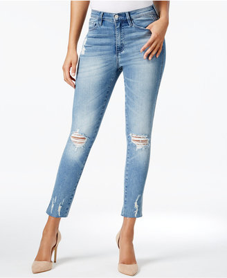 Buffalo David Bitton Embellished Ripped Ankle Jeans $99 thestylecure.com
