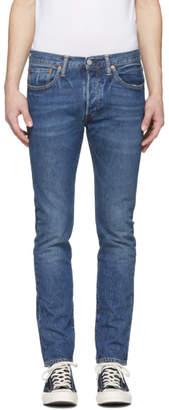 Levi's Levis Blue 501 Skinny Jeans