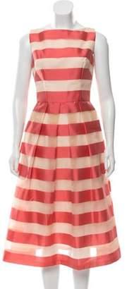 Lela Rose 2019 Striped Dress Coral 2019 Striped Dress