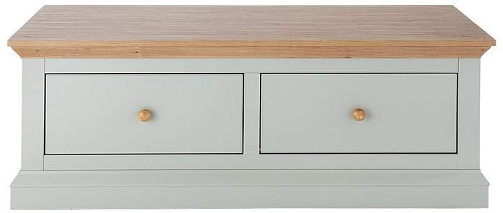 Hannah 2-Drawer Storage Coffee Table - Sage/Oak-Effect