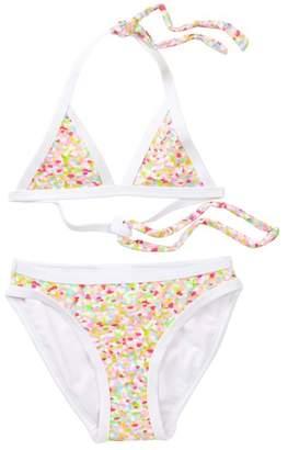 Snapper Rock Confetti Gold Sparkle Bikini (Toddler, Little Girls, & Big Girls)