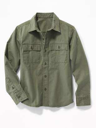 Old Navy Ripstop Utility Shirt for Boys