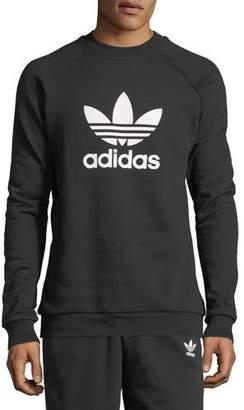 adidas Men's Trefoil Warm-Up Sweatshirt, Black