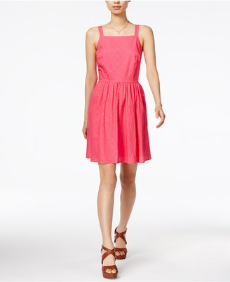 Maison Jules Laser-Cut Fit & Flare Dress, Created for Macy's $79.50 thestylecure.com