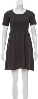 Miu Miu Knit Short Sleeve Dress