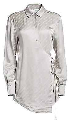 Off-White Women's Long-Sleeve Logo Blouse