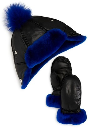 UGG® Boys' Pom Hat & Mittens Boxed Set - Little Kid $85 thestylecure.com