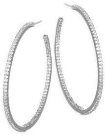Kate Spade Crystal Hoop Earrings