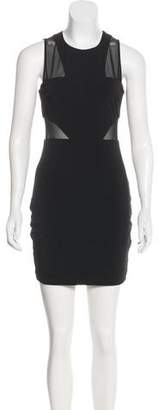 Elizabeth and James Mesh-Paneled Bodycon Dress