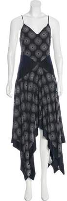 Diane von Furstenberg Silk High-Low Dress