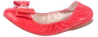 Miu Miu Leather Round-Toe Flats