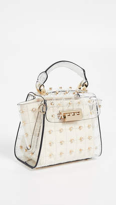 Zac Posen Eartha Quilted Pearl Lady Mini Top Handle Bag