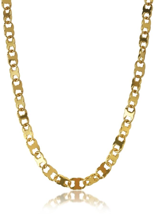 Tory BurchTory Burch Core Gemini Gold Tone Metal Link Chain Necklace