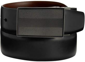 Perry Ellis Portfolio Men's Reversible Dizzy Plaque Belt