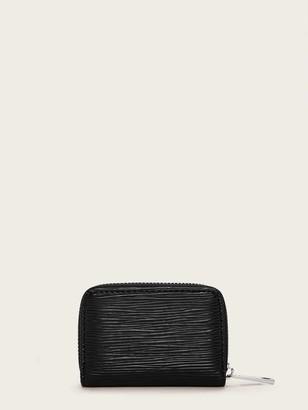 Shein Zip Around Textured Card Bag