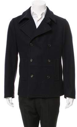 Dolce & Gabbana Double-Breasted Virgin Wool Peacoat