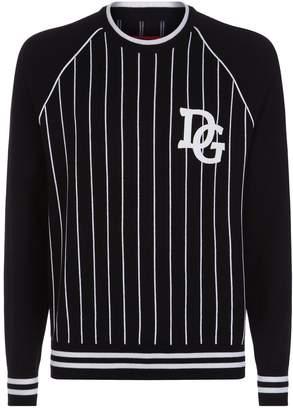 Dolce & Gabbana Baseball Stripe Sweater