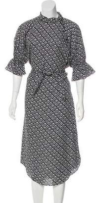 Apiece Apart Patterned Midi Dress